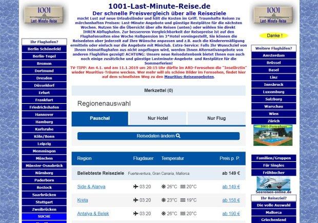1001-Last-Minute-Reise.de - Danke schön!
